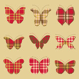Nine butterflies Stock Photo