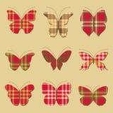 Nine butterflies. Set of butterflies with patterns Scottish Stock Photo