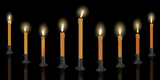 Nine candle menorah Stock Photography