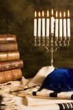 Nine candles. For hanukkah, and a prayer shawl