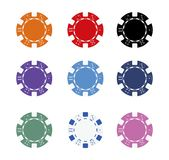 Nine chips Royalty Free Stock Photos