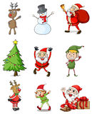 Nine christmas designs Royalty Free Stock Photos
