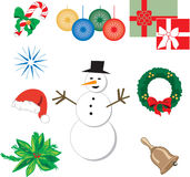 Nine Christmas Icons 1 Stock Image