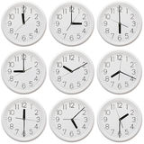 Nine clock Stock Photos