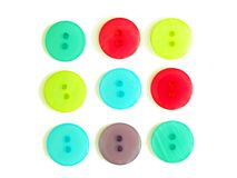 Nine cloth buttons Royalty Free Stock Images
