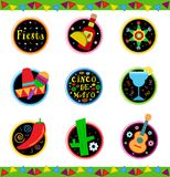 Fiesta Icons Royalty Free Stock Images