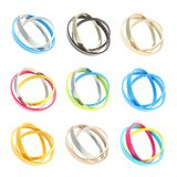 Nine copyspace round frames made of ring hoops Royalty Free Stock Photo