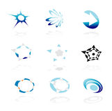 Nine corporate logos Stock Photography