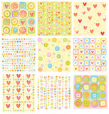 Nine of cute backgrounds. Royalty Free Stock Photos