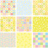 Nine of cute backgrounds. Royalty Free Stock Image