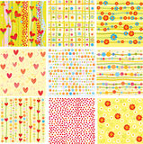 Nine of cute backgrounds. Royalty Free Stock Images