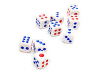 Nine dice i Stock Image