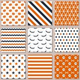 Nine different seamless patterns for Halloween. Endless texture for wallpaper vector illustration