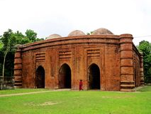 Nine Dome Mosque, Bagarhat, Bangladesh. The Nine Dome Mosque is a historic mosque in Bagerhat, Bangladesh. It was built in the fifteenth century royalty free stock photography