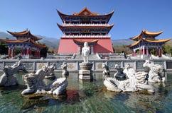 Nine dragon Bathing Buddha Stock Image