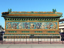 Nine Dragon Wall. The Nine Dragon Wall in Chicago Chinatown Stock Photography
