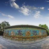 The nine dragon wall Stock Image