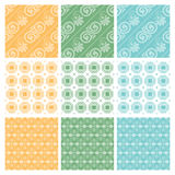 Nine elegant textile or wallpaper pattern Royalty Free Stock Image