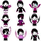 Nine Emo Angels Stock Image
