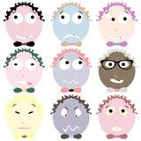 Nine emoticons Royalty Free Stock Image