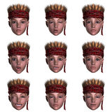 Nine emotions with one face. Face with nine expressions Royalty Free Stock Photos