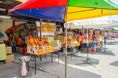 The Nine Emperor Gods Festival in Ampang. Selangor,Malaysia - September 26, 2014 : During the The Nine Emperor Gods Festival,there are some stalls around the Royalty Free Stock Image
