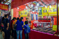 The Nine Emperor Gods Festival in Ampang. Selangor,Malaysia - September 26, 2014 : During the The Nine Emperor Gods Festival,there are some stalls around the Royalty Free Stock Images