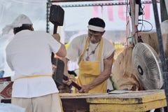 Nine Emperor Gods Festival. Bangkok, Thailand - October 1, 2014: Nine Emperor Gods Festival at Yaowarat Road, Bangkok, Thailand Royalty Free Stock Photos