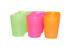 Nine empty cups Stock Photography