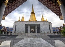 Nine-end Pagoda in The Temple of Marble Pali Canon(tripitaka) Royalty Free Stock Photos