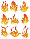 Nine fire icon Stock Photo