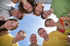 Nine friends Stock Image