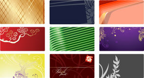Nine Glamour Fashion Business Cards. Royalty Free Stock Photos