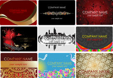 Nine Glamour Fashion Business Cards. Royalty Free Stock Photography