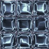 Nine glass or ice cubes abstract light blue image. Nine glass or ice cubes abstract light blue cold image Royalty Free Stock Photos