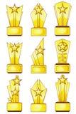 Nine golden awards Royalty Free Stock Photography
