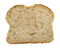 Nine grain bread slice on a white background Royalty Free Stock Image
