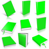 Nine green empty book template Stock Photo