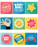 Nine guarantee icon. Vector illustration of a nine guarantee icon Royalty Free Stock Image
