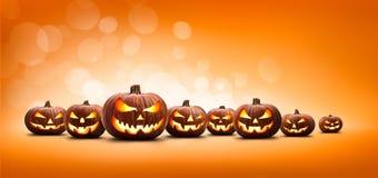 Free Nine Halloween, Jack O Lanterns, With Evil Spooky Eyes Royalty Free Stock Image - 196395066