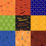 Nine Halloween texture pattern collection set Royalty Free Stock Photos