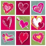 Nine heart,  Royalty Free Stock Image