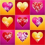 Nine heart, vector Royalty Free Stock Photos