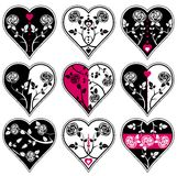 Nine heart, vector Stock Photography