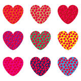 Nine hearts Royalty Free Stock Image