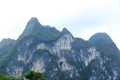 Nine horse paiting mountain in yangshuo Stock Image