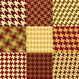 Nine Houndstooth Patterns Stock Photography