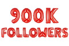 Nine hundred thousand followers, red color Stock Images