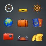 Nine icons Stock Photo