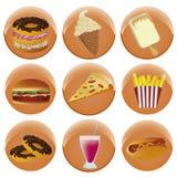 Nine icons for menu Royalty Free Stock Photos